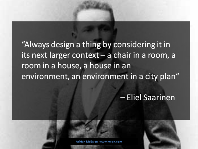 Quote from Eliel Saarinen
