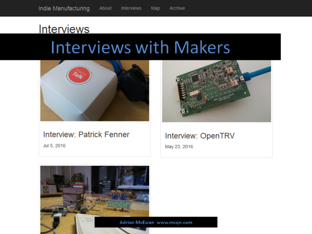 Interviews with Makers